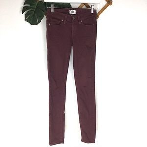 PAIGE | Verdugo Ultra Skinny Cranberry Red Size 24